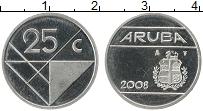 Изображение Монеты Аруба 25 центов 2008 Медно-никель UNC-