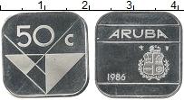 Изображение Монеты Аруба 50 центов 1986 Медно-никель UNC-