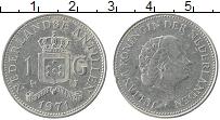 Изображение Монеты Антильские острова 1 гульден 1971 Медно-никель XF Юлиана