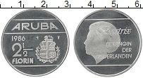 Изображение Монеты Аруба 2 1/2 флорина 1986 Медно-никель UNC-