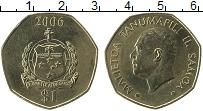 Изображение Монеты Самоа 1 доллар 2006 Латунь UNC- Малиетоа Танумафили