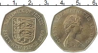 Изображение Монеты Остров Джерси 50 пенсов 1969 Медно-никель XF