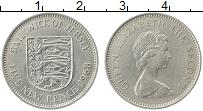 Изображение Монеты Остров Джерси 5 пенсов 1968 Медно-никель XF Елизавета II.