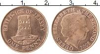 Изображение Монеты Остров Джерси 1 пенни 2008 Медь UNC-