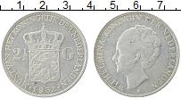 Изображение Монеты Нидерланды 2 1/2 гульдена 1932 Серебро XF Вильгельмина