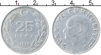 Изображение Монеты Турция 25 лир 1985 Алюминий XF