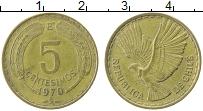 Изображение Монеты Чили 5 сентесим 1970 Латунь XF