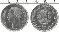 Изображение Монеты Венесуэла 5 боливар 1989 Медно-никель XF Симон Боливар