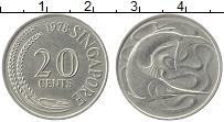 Изображение Монеты Сингапур 20 центов 1978 Медно-никель XF