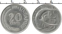 Изображение Монеты Сингапур 20 центов 1984 Медно-никель XF