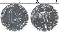 Изображение Монеты Западная Африка 1 франк 1978 Сталь UNC-