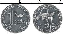 Изображение Монеты Западная Африка 1 франк 1984 Сталь UNC-