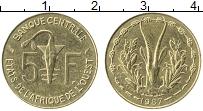 Изображение Монеты Западная Африка 5 франков 1987 Латунь XF