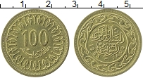 Изображение Монеты Тунис 100 миллим 1983 Латунь UNC-