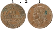 Изображение Монеты Панама 1 сентесимо 1983 Бронза XF Уррака