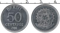 Изображение Монеты Бразилия 50 сентаво 1988 Медно-никель XF