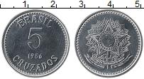 Изображение Монеты Бразилия 5 крузадо 1986 Медно-никель UNC-