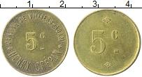 Изображение Монеты Франция 5 сантим 0 Латунь XF Вилье-Адам. Столовая