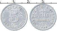 Изображение Монеты Франция 5 сантим 1922 Алюминий UNC- Жарнак. Галантерея и