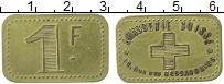 Изображение Монеты Франция 1 франк 0 Латунь XF+ Париж.  Швейцарская
