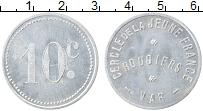 Изображение Монеты Франция 10 сантим 0 Алюминий UNC- `Ружье. Клуб ``Молод