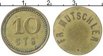 Изображение Монеты Франция 10 сантим 0 Латунь XF `Страсбург. Ресторан