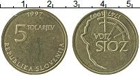 Изображение Монеты Словения 5 толаров 1997 Латунь UNC- 250 лет со дня рожде
