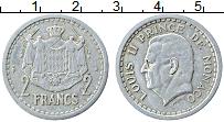 Изображение Монеты Монако 2 франка 1943 Алюминий XF Луи II