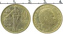 Изображение Монеты Монако 10 сантим 1962 Латунь XF