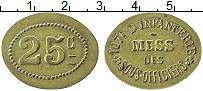 Изображение Монеты Франция 25 сантим 0 Латунь XF+ Военный токен. 107 П