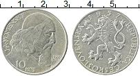 Изображение Монеты Чехословакия 10 крон 1957 Серебро XF+