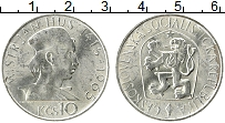 Изображение Монеты Чехословакия 10 крон 1965 Серебро UNC- 550 лет со дня смерт