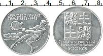 Продать Монеты Чехословакия 500 крон 1993 Серебро