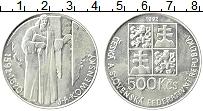 Продать Монеты Чехословакия 500 крон 1992 Серебро