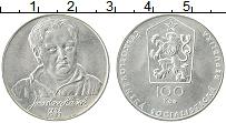 Изображение Монеты Чехословакия 100 крон 1983 Серебро UNC- 100 лет со дня рожде
