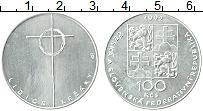 Продать Монеты Чехословакия 100 крон 1992 Серебро