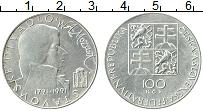 Изображение Монеты Чехословакия 100 крон 1991 Серебро UNC-