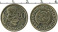 Изображение Монеты Мозамбик 20 сентаво 2006 Латунь UNC- Цветы