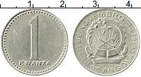 Изображение Монеты Ангола 1 кванза 1975 Медно-никель XF Герб