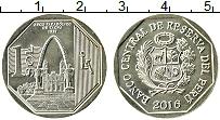 Изображение Монеты Перу 1 соль 2016 Латунь UNC