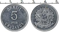 Изображение Монеты Бразилия 5 крузадо 1988 Медно-никель XF Герб