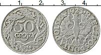 Изображение Монеты Польша 50 грош 1923 Медно-никель VF Герб