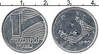 Изображение Монеты Бразилия 1 крузейро 1990 Медно-никель UNC- Звезды