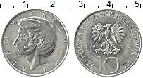 Изображение Монеты Польша 10 злотых 1975 Медно-никель XF Герб. Адам Мицкевич