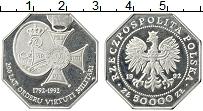 Изображение Монеты Польша 50000 злотых 1992 Медно-никель Proof- 200 лет ордену Воинс