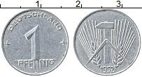 Изображение Монеты ГДР 1 пфенниг 1952 Алюминий VF А