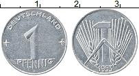 Изображение Монеты ГДР 1 пфенниг 1953 Алюминий VF А