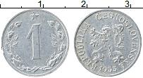 Изображение Монеты Чехословакия 1 хеллер 1953 Алюминий VF