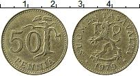 Изображение Монеты Финляндия 50 пенни 1979 Латунь XF Дерево