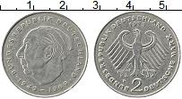 Изображение Монеты ФРГ 2 марки 1973 Медно-никель VF F Хойс
